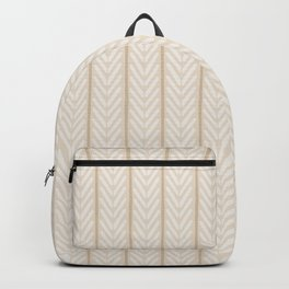 Ethnic Chevron Pattern - Neutral Cream and Beige Backpack