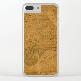Map Of Oakland 1868 Clear iPhone Case