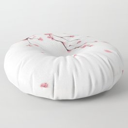 Oriental cherry blossom in spring 002 Floor Pillow