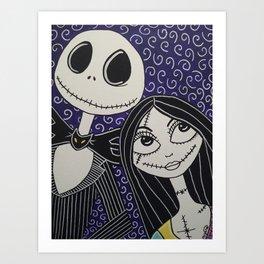 Jack Skellington and Sally Art Print