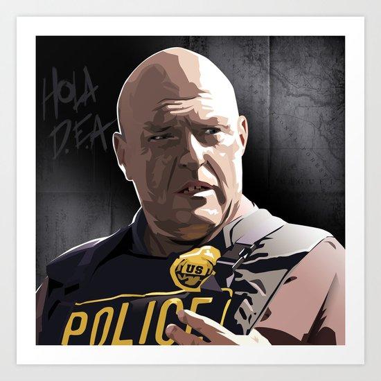 Breaking Bad Illustrated - Hank Schrader Art Print