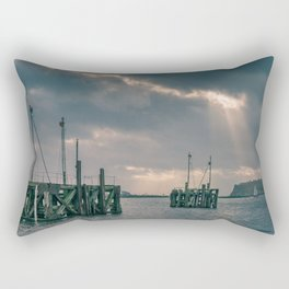 Cardiff Bay god rays Rectangular Pillow