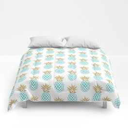 Elegant faux gold pineapple pattern Comforters