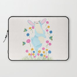 Bouncing Baby Blue Bunny Laptop Sleeve