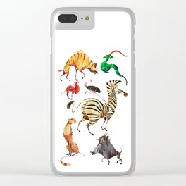 African animals 2 Clear iPhone Case