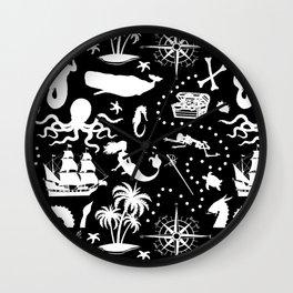 High Seas Adventure // Black Wall Clock