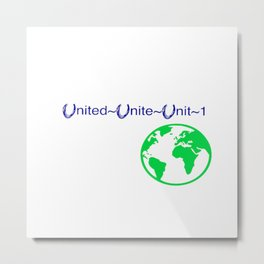 United World Metal Print
