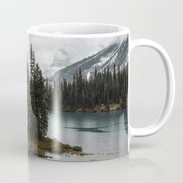 Landscape Maligne Lake Vertical View Coffee Mug