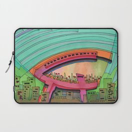 City Sky Cave Architectural Illustration 70 Laptop Sleeve