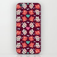 puppies iPhone & iPod Skins featuring Puppies by Maria Jose Da Luz