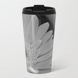 Gerbera Daisy B&W Travel Mug