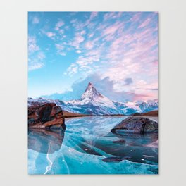 Frozen Matterhorn Canvas Print