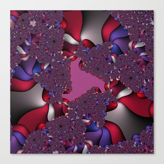 pink and purple fractal Canvas Print
