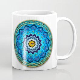 Blue Rose Mandala Coffee Mug