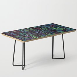 Purple and Green Doodle 14 Coffee Table