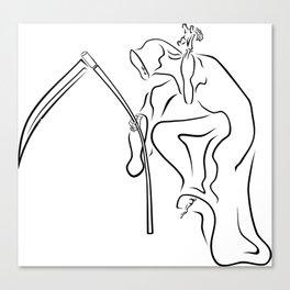 Gevatter / Godfather / Grim HIP HOP for Halloween Canvas Print