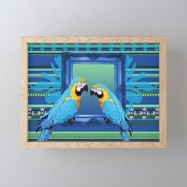 Blue Macaw with frame Framed Mini Art Print
