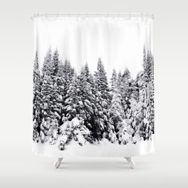 Snow Day Has Come Shower Curtain