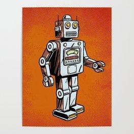 Retro Robot Toy Poster