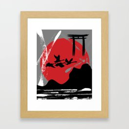 Tribute to Japan Framed Art Print