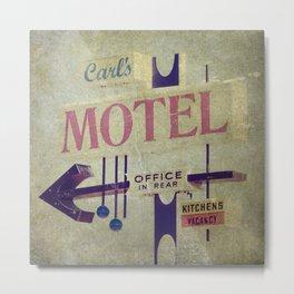 Carl's Motel Metal Print
