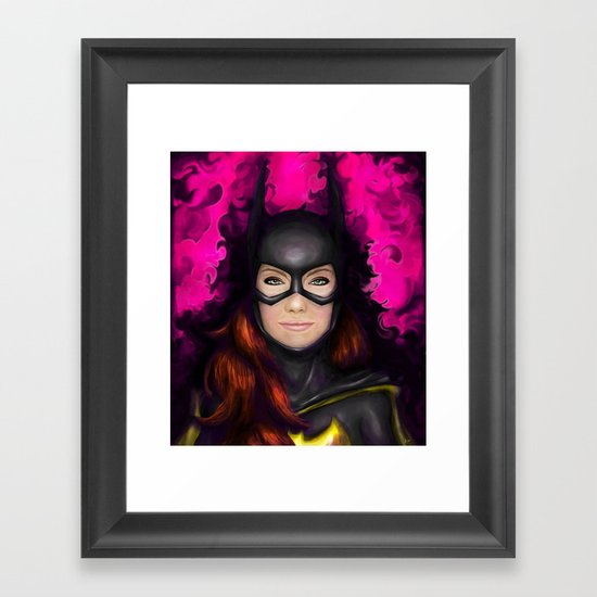 Bat of Stone Framed Art Print