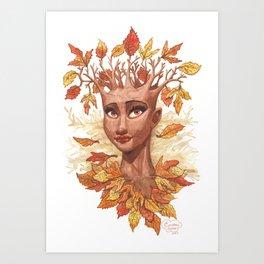 Fall Goddess Art Print
