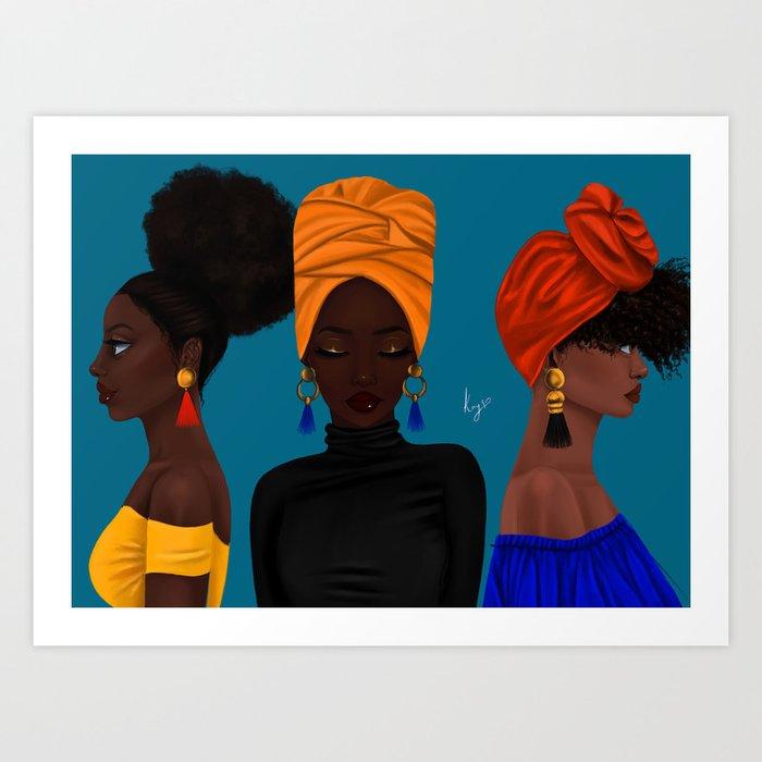 afrocentric Kunstdrucke