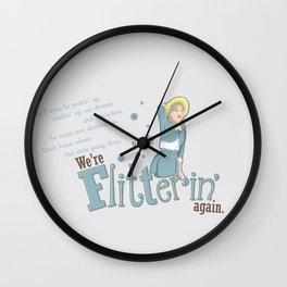 Flitterin' Wall Clock