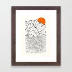 The orange sun Framed Art Print