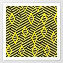 back yelow lines Art Print