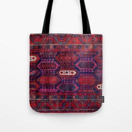 Timuri Herat  Antique Afghanistan Tribal Rug Print Tote Bag