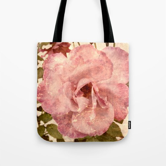 Flower | Flowers | Pink Vintage Rose Tote Bag
