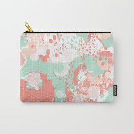 Poppy - minimal trendy gender neutral bright happy color palette nursery art Carry-All Pouch