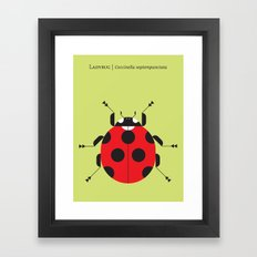 Lady Bug Yellow Framed Art Print