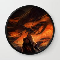loish Wall Clocks featuring Seastorm by loish