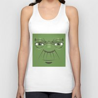 starwars Tank Tops featuring Yoda - Starwars by Alex Patterson AKA frigopie76