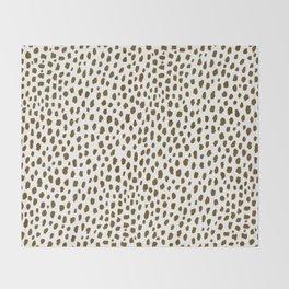 Brown Dalmatian Spots (brown/white) Throw Blanket