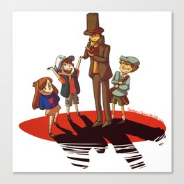Layton in Gravity Falls Canvas Print