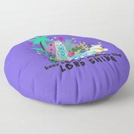 Lord Shiva meditates Floor Pillow