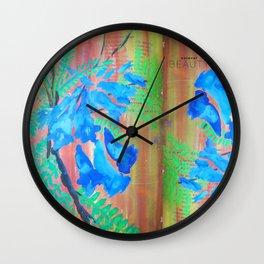 Jacaranda Purples Wall Clock