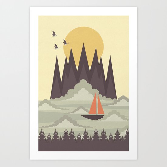 Over the Clouds Art Print