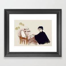 no post on sundays Framed Art Print