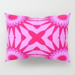 Fuchsia Pink Flowers Mandala Pillow Sham