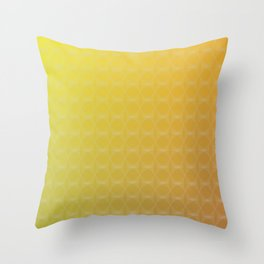 Yellow to Orange Scale Ombre Circle Gradient Throw Pillow