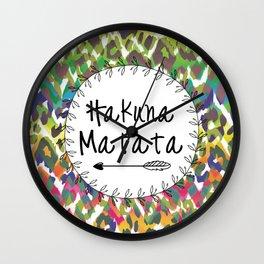 Hakuna Matata / No Worries Print Decor Wall Clock