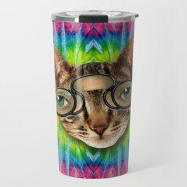 TIE DYE CAT Travel Mug
