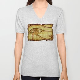 The Wadjet - Ancient Egyptian Eye of Horus Unisex V-Neck