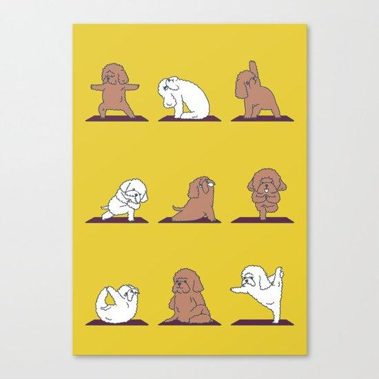 Poodle Yoga Canvas Print