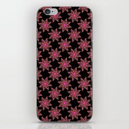Neon Flower in Pink & Red iPhone Skin